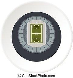 Round stadium top view icon circle