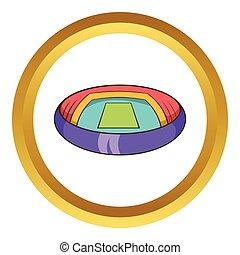 Round stadium vector icon