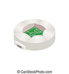 Round stadium with canopi icon