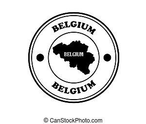 round stamp Belgium