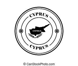 round stamp of cyprus