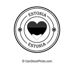 round stamp of estonia