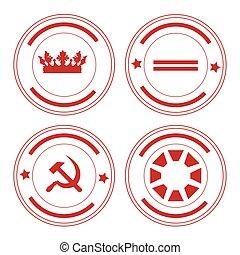 Round stamp set