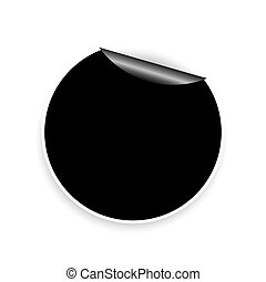 Round sticker vector illustration