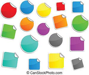 Round stickers.