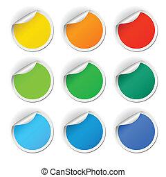 Round stickers set
