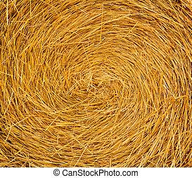Round Straw Bale