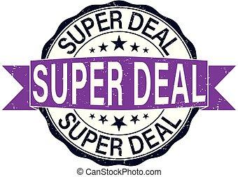 round super deal rubber stamp web badge