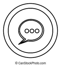 round symbol chat bubble icon