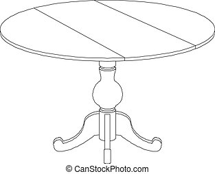 round table drawing