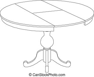 table clipart black and white. round table drawing clipart black and white