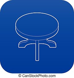 Round table icon blue vector