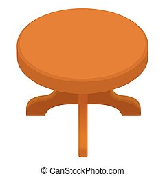 Round table icon, cartoon style
