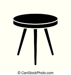round table icon- vector illustration