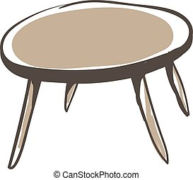 Round table, illustration, vector on white background.