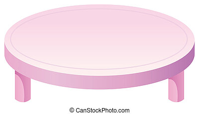 Round Table isolate in a white background