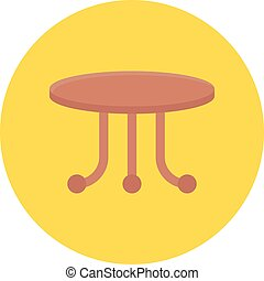 round table vector flat colour icon