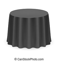 Round Tablecloth - Isolated Blank Round Table with ...
