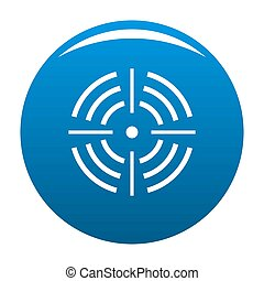 Round target icon blue
