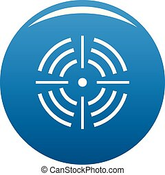 Round target icon blue vector