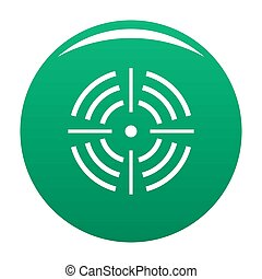 Round target icon green