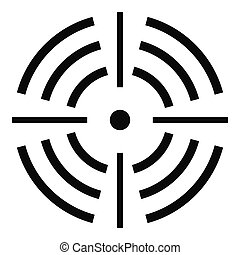 Round target icon, simple style.