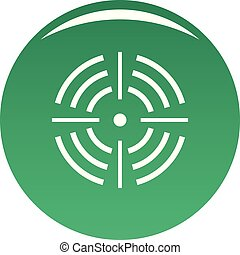 Round target icon vector green