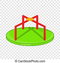 Round teeter icon, cartoon style