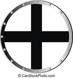 Round templar shield