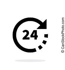 Round-the-clock icon on white background.