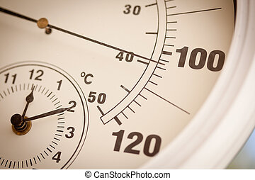 Round Thermometer Showing Over 100 Degrees - Round Outdoor...