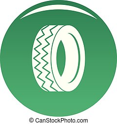 Round tire icon vector green