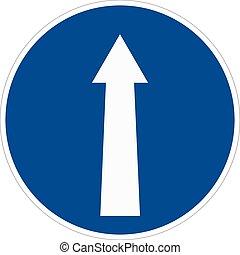 Round traffic sign. Vector illustration.
