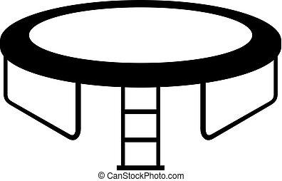 Round trampoline icon