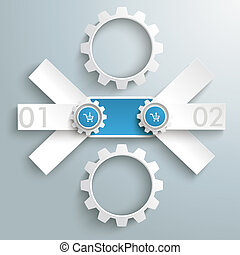 Round Triple Banner 2 Gears PiAd - Infographic design on the...