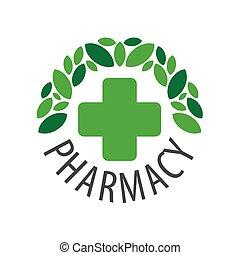 Round vector logo for pharmaceutical companies