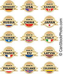 Round vector stickers