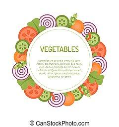 Round vegetable frame