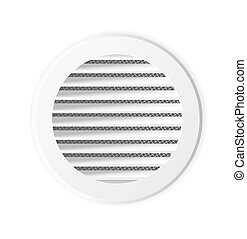Round ventilation grill. Isolated illustration. Vector.