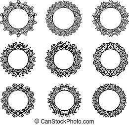 Round vintage celtic frames