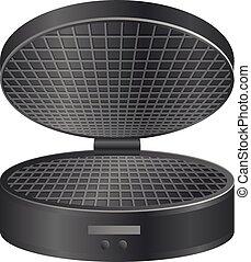 Round waffle maker icon, realistic style - Round waffle ...
