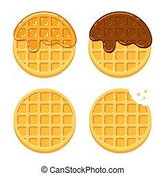 Round waffles set