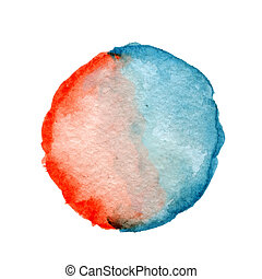 Round watercolor spot
