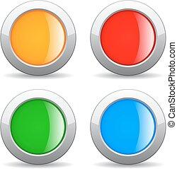 Round web button