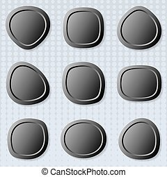 Round web buttons - Dark original irregular round web...