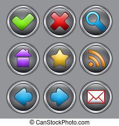 Round Web icon set