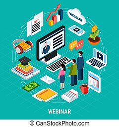Round Webinar Isometric Composition