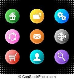 Round website icons