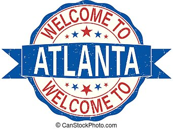 round welcome to atlanta rubber stamp web badge