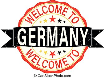 round welcome to germany rubber stamp web badge